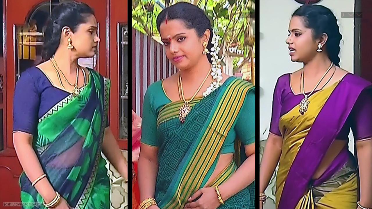 Sudha Tamil TV Actress Saree Photos