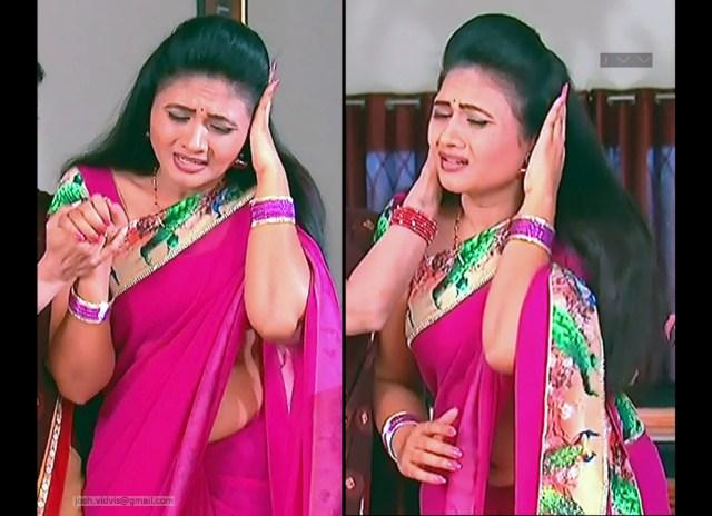Telugu TV Actress_SVSC-S2_01_Hot Saree Pics