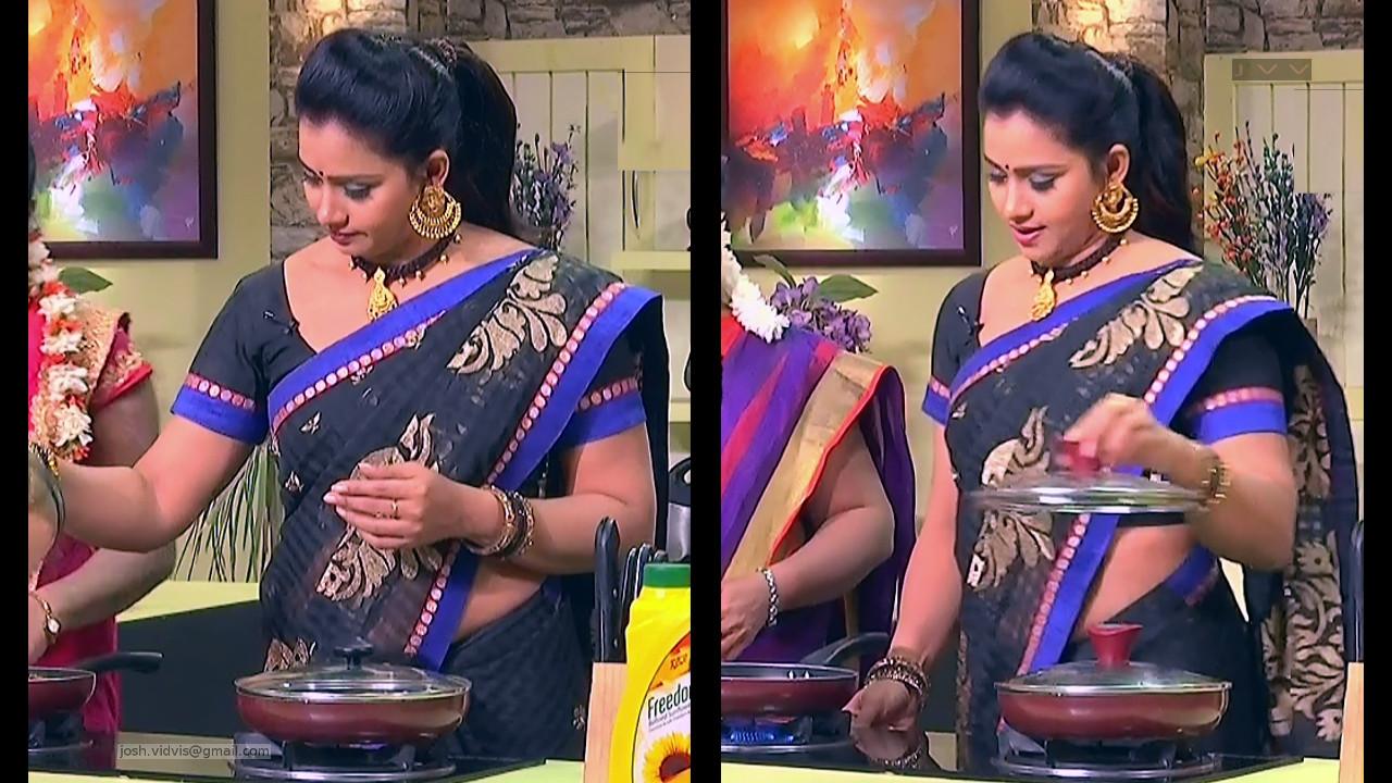 Telugu TV Anchor Cool show_01_Saree Caps photos