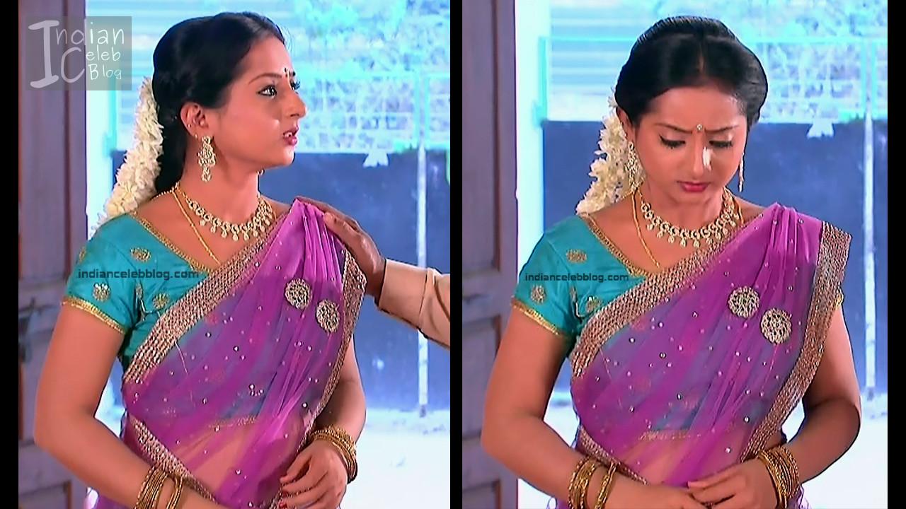 Harshitha_Telugu TV Actress_3_Saree Pics