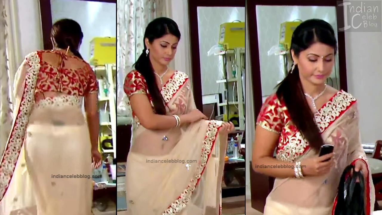 HinaKhan_Hindi TV Actress YRKKH S1_20_Hot Saree navel pics
