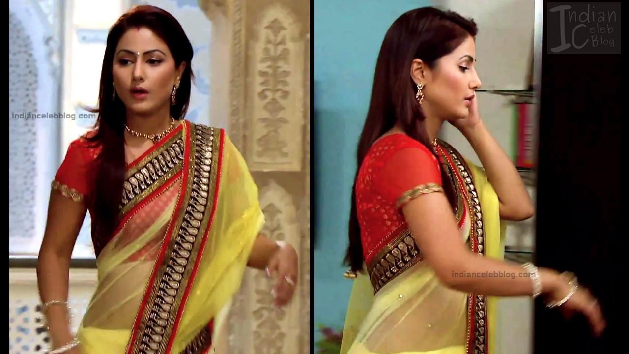 HinaKhan_Hindi TV Actress YRKKH S1_6_Hot Saree navel pics