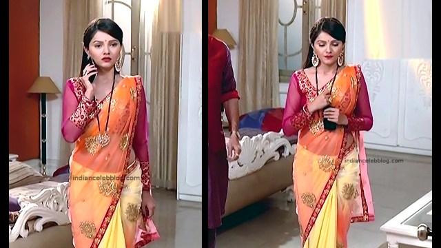 Rubina Dilaik_Hindi TV Actress_2_Hot Transparent saree navel pics