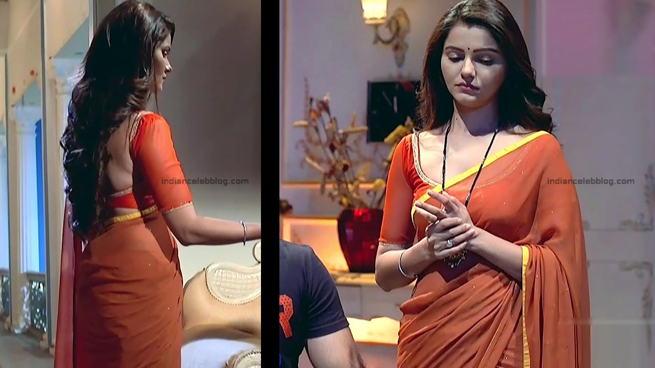 Rubina Dilaik_Hindi TV Actress_3_Hot Transparent saree navel pics