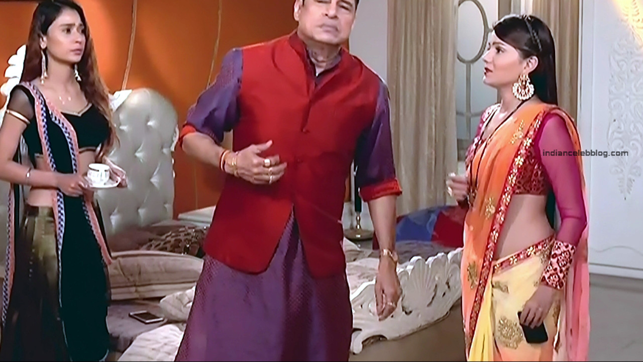 Rubina Dilaik_Hindi TV Actress_7_Hot Transparent saree navel pics