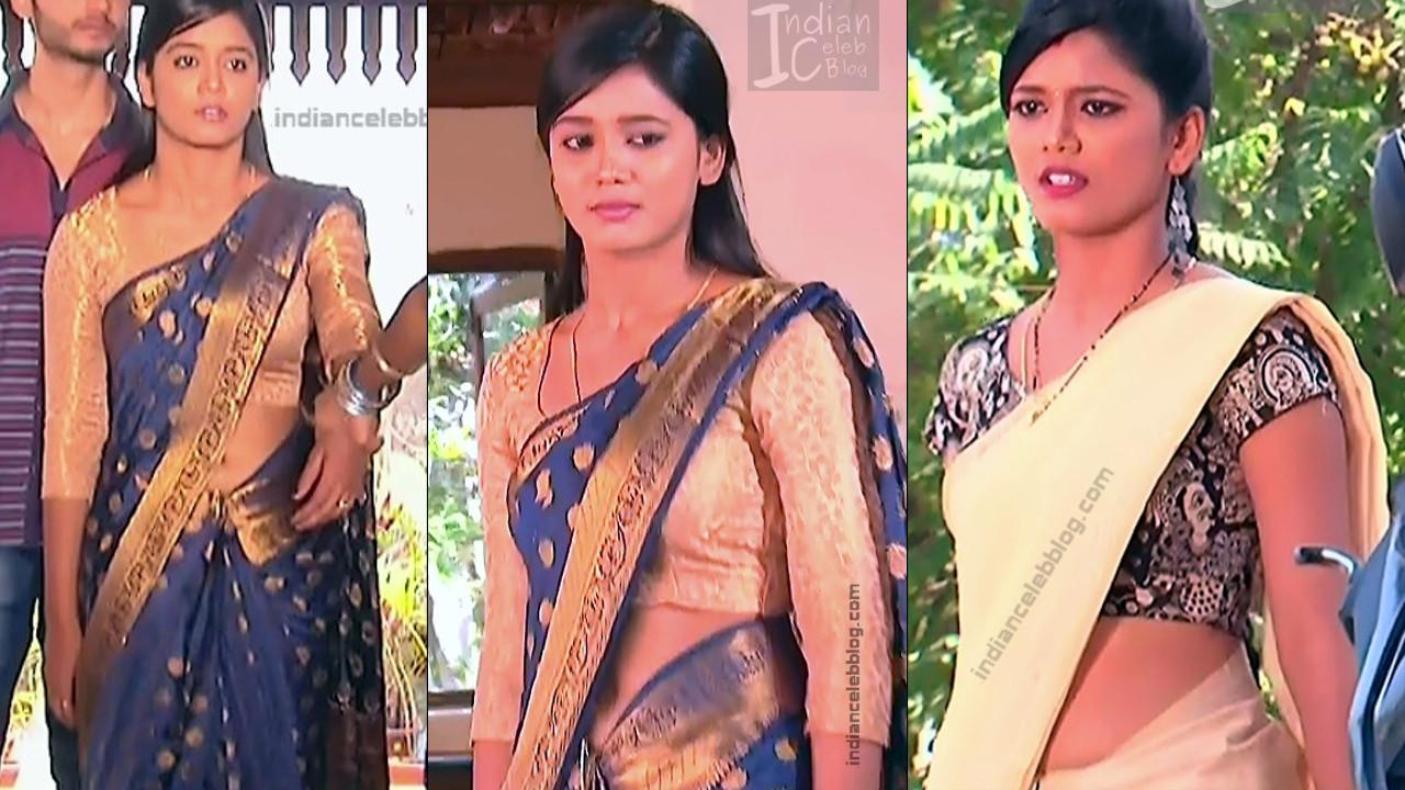 Telugu TV Actress Hot Saree navel show hd caps