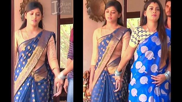 Telugu TV Actress ETV AbhiS_3_Hot Saree navel pics