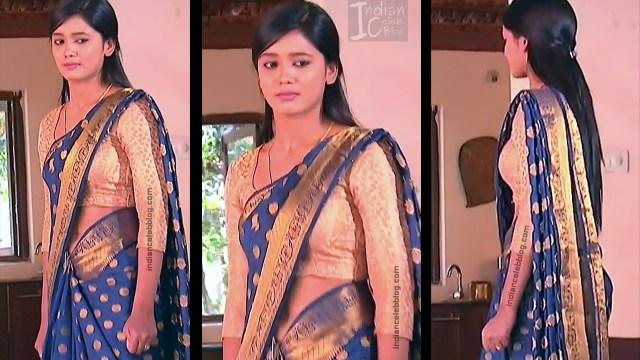 Telugu TV Actress ETV AbhiS_7_Hot Saree navel pics