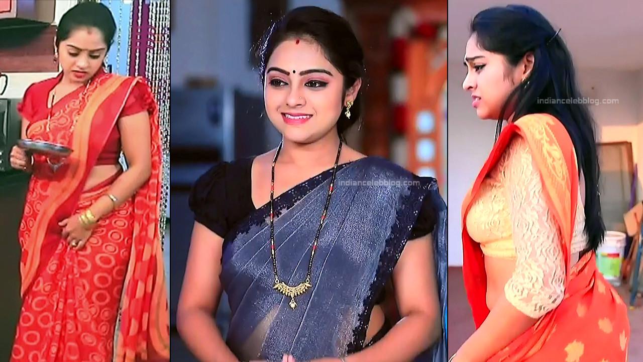 Deepika dhanya Kannada TV actress HD caps in saree
