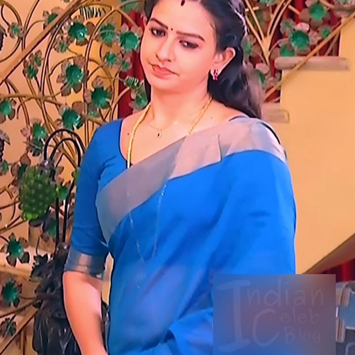 Divya_Tamil TV Actress SMG-S2_5_Saree photo