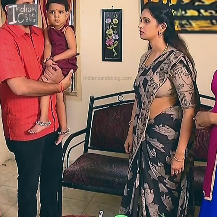 Kavya Shastry_Tamil TV Actress Mahalakshmi S1_5_Hot saree pics