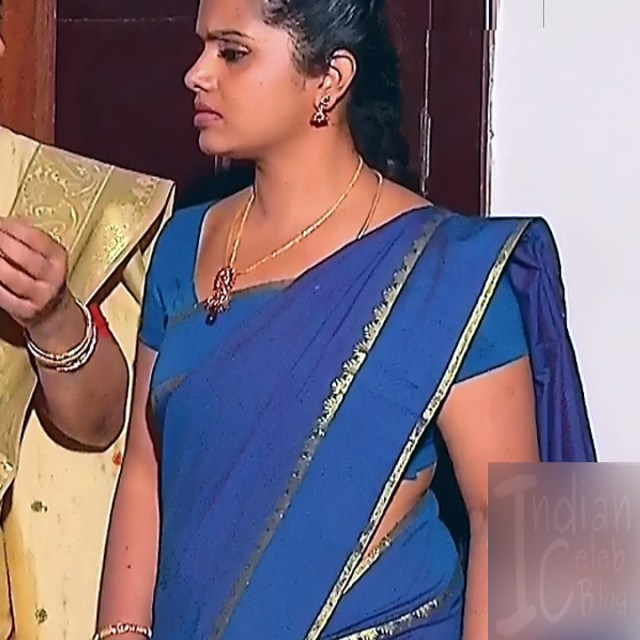 Sudha Tamil TV Actress Mahalakshmi S2 11 Hot Saree Photos