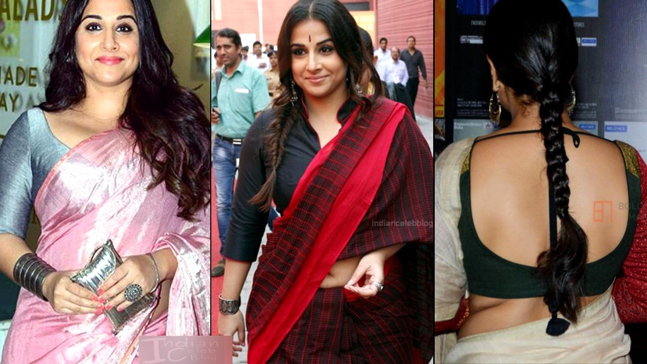 Vidya Balan sexy navel n cleavage show in saree at bollywood events