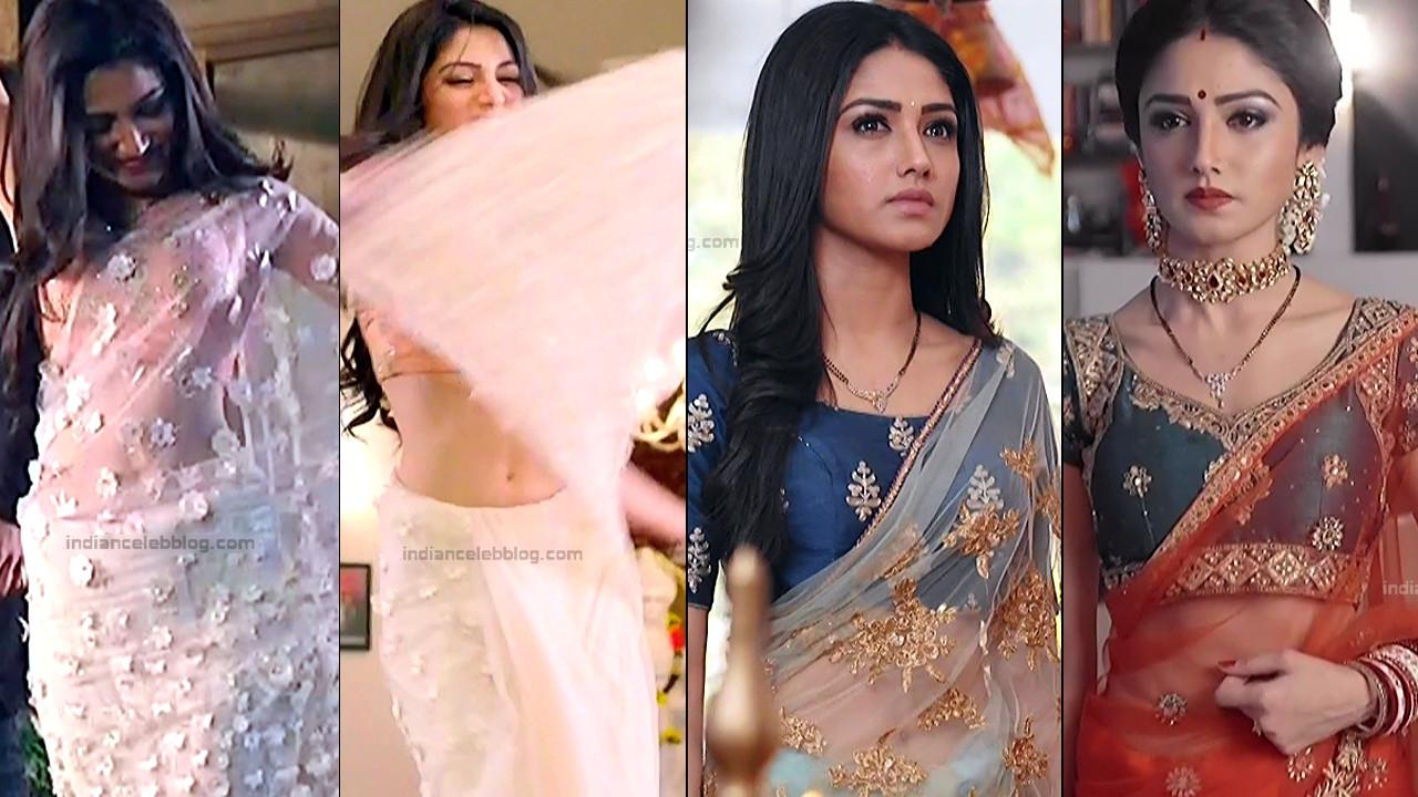 Donal Bisht hot sleeveless blouse saree cap