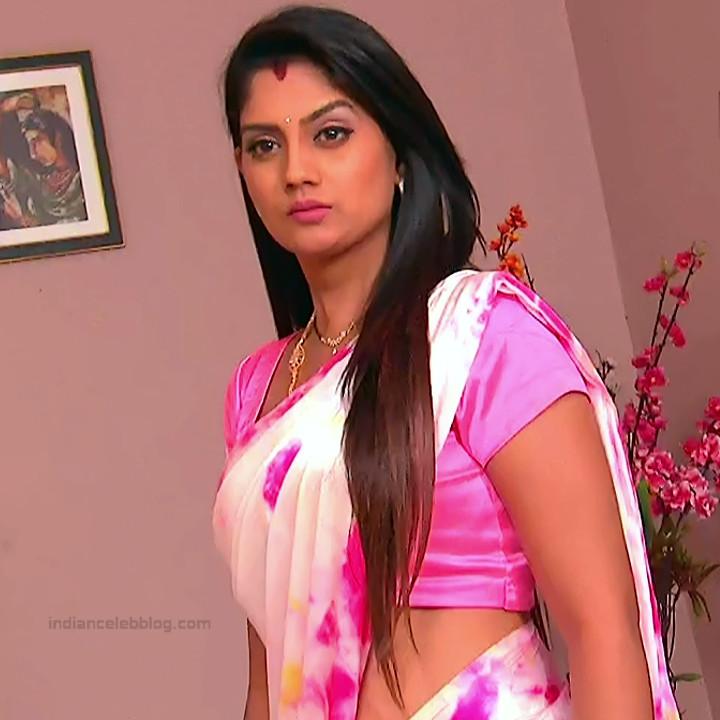 Karuna Telugu serial actress AbhiSS2 11 hot saree photos