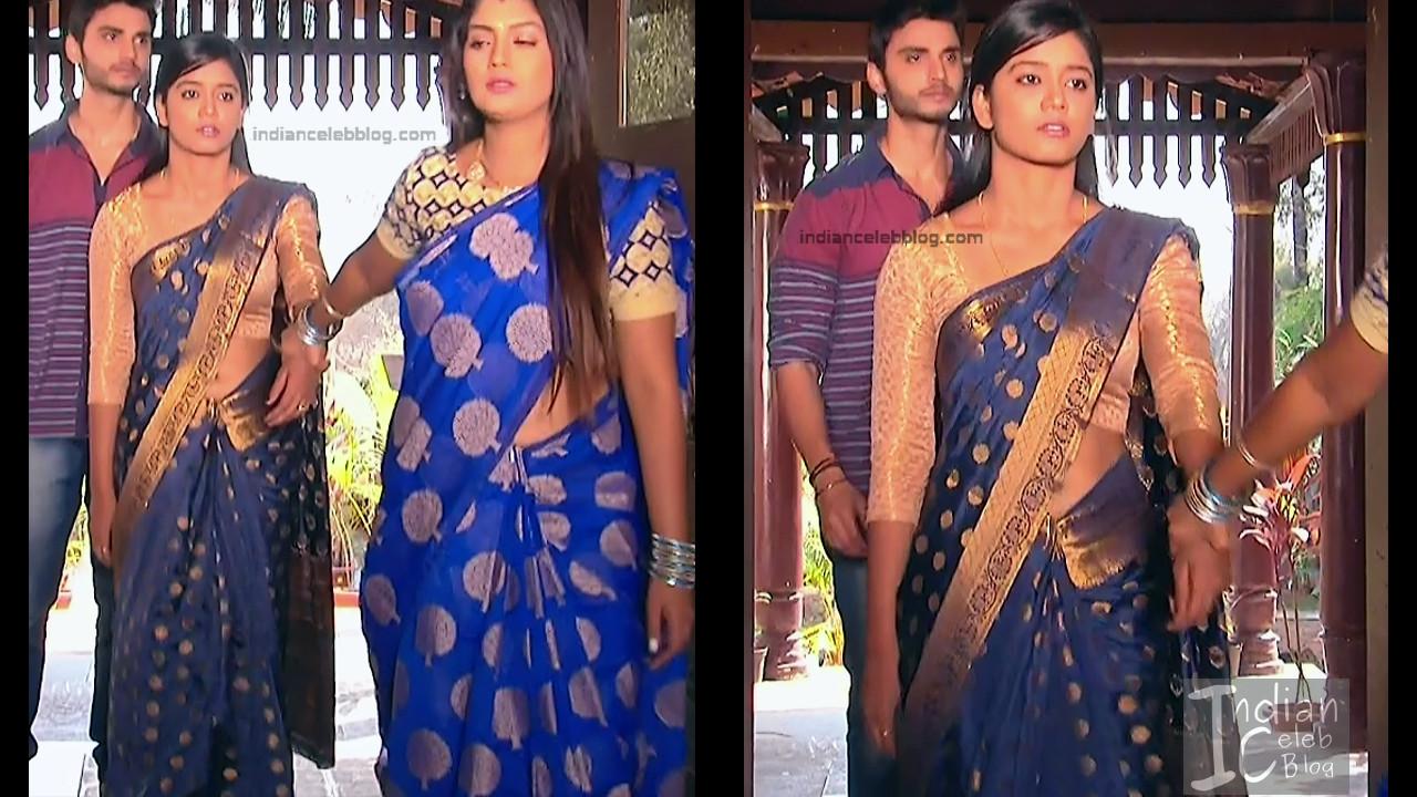 Karuna Telugu serial actress AbhiSS2 15 hot saree photos