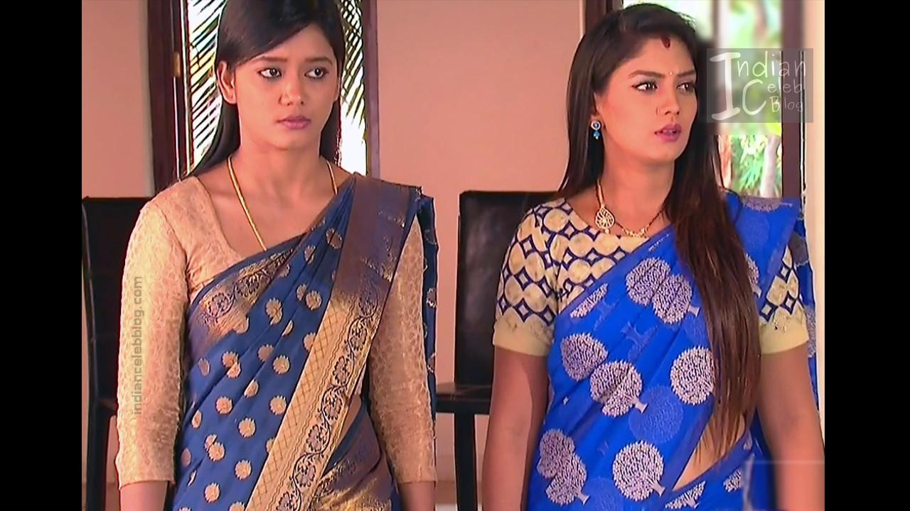 Karuna Telugu serial actress AbhiSS2 17 hot saree photos
