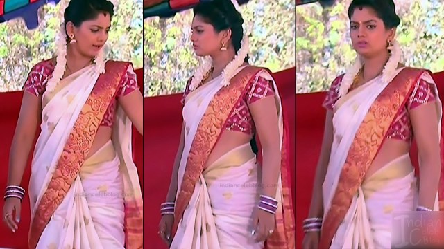 Karuna Telugu serial actress AbhiSS2 6 hot saree photos