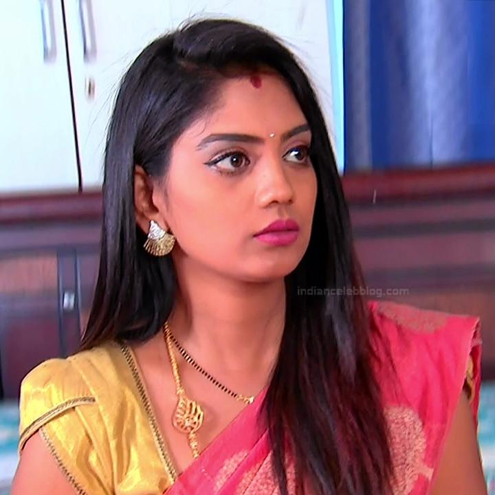 Karuna Telugu serial actress AbhiSS2 9 hot saree photos