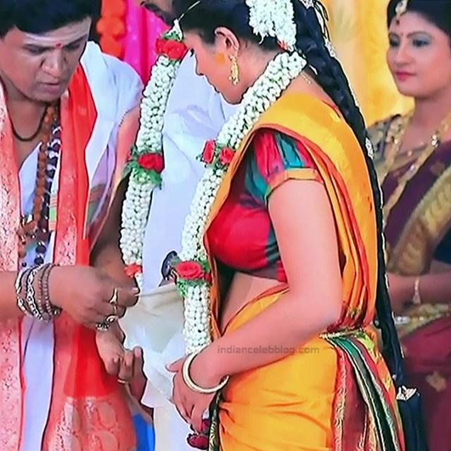 Nithya Kannada TV Actress Kinnari S1 5 Hot Saree Pics