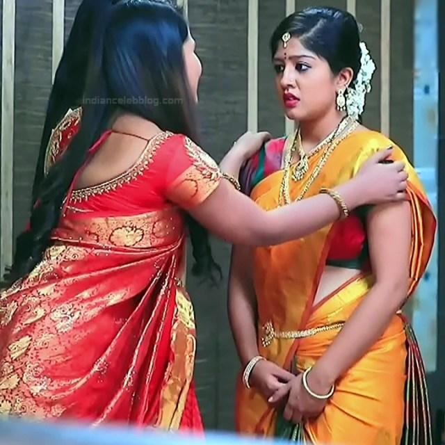 Nithya Kannada TV Actress Kinnari S1 9 Hot Saree Pics