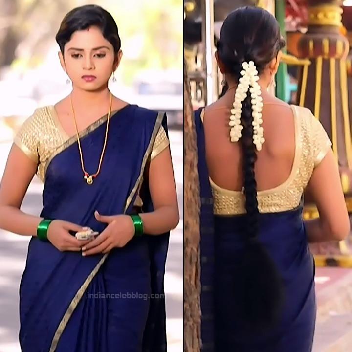 Raksha Gowda Kannada TV serial actress PutMS1 10 Saree Photo