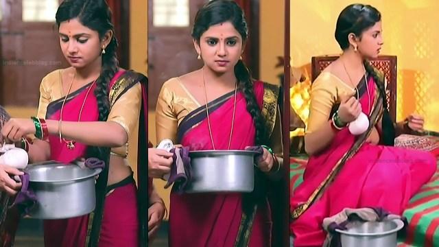 Raksha Gowda Kannada TV serial actress PutMS1 2 Saree Photo