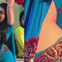 Aishwarya Meghana saree midriff show hd caps