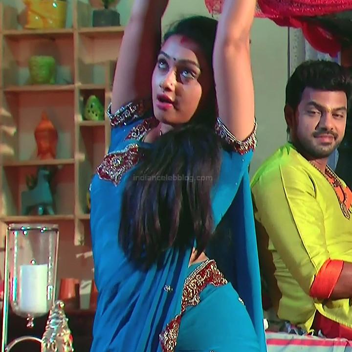 Aishwarya Meghana Telugu serial actress AgniSS1 5 hot saree caps