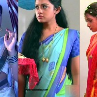 Aishwarya Meghana saree caps from Agnisakshi serial