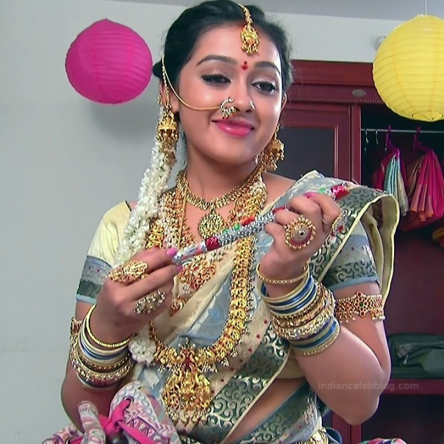Aishwarya Meghana Telugu TV actress AgniSS2 3 hot sari pics
