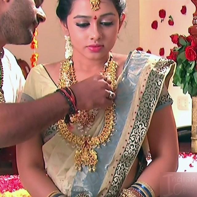 Aishwarya Meghana Telugu TV actress AgniSS2 4 hot sari pics
