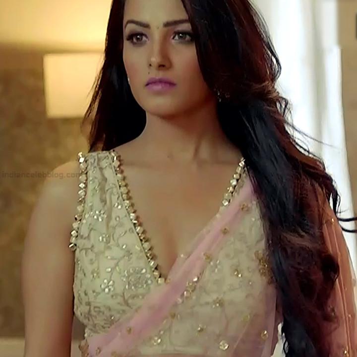 Anita Hassanandani Hindi TV actress YehHMS3 13 hot saree pics