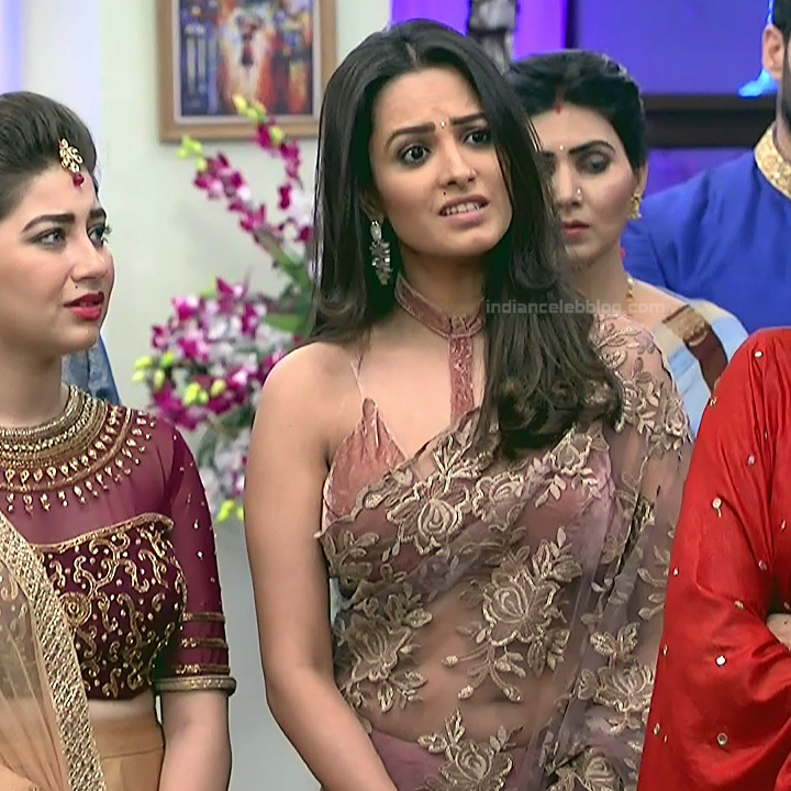 Anita Hassanandani Hindi TV actress YehHMS3 21 hot transparent sari pics