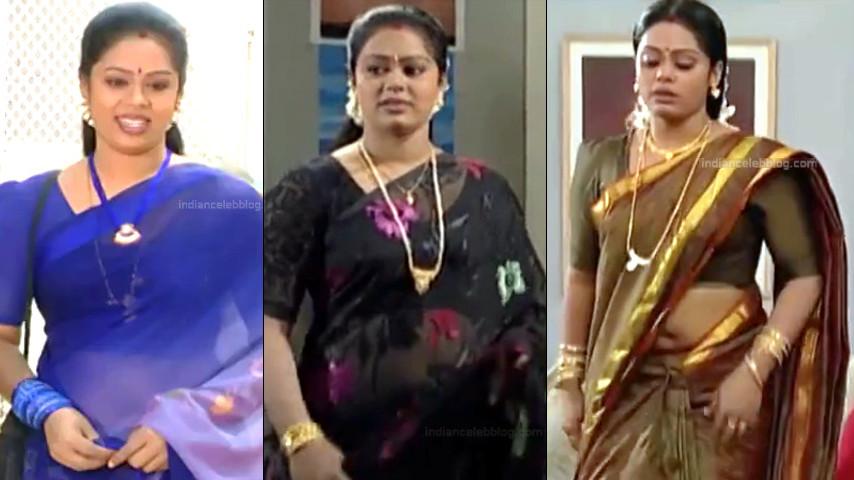 Devi priya Tamil serial hot saree navel caps