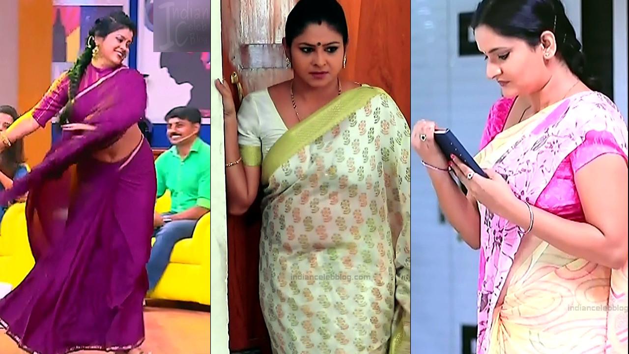 Kannada TV Actress Mix hot saree caps