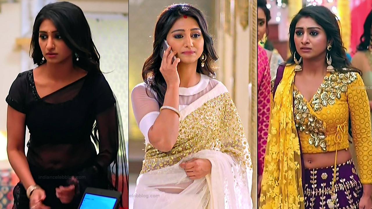 Mohena Singh Hindi TV actress hot Caps in transparent saree