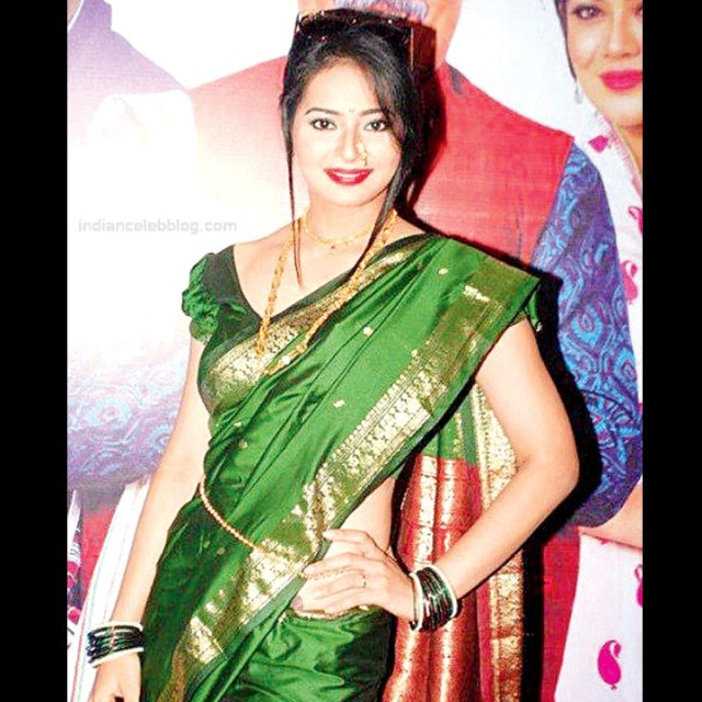 Monica Castelino Hindi TV actress CompS1 4 hot saree pics