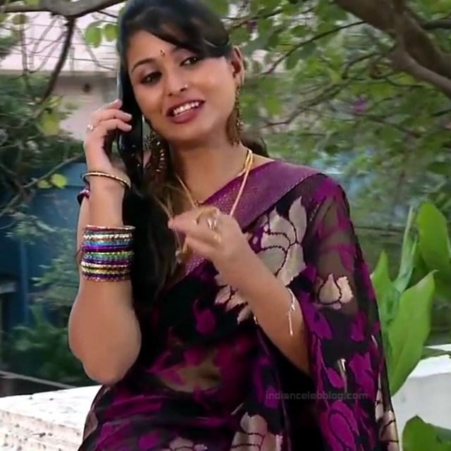 Nagashree Tamil TV Actress Chandralekha S1 6 hot saree photo