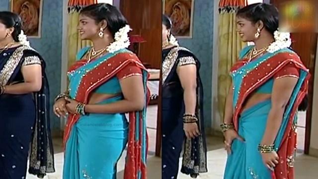 Telugu TV Actress Maa Nanna Art1-S1 16 Hot Saree Caps