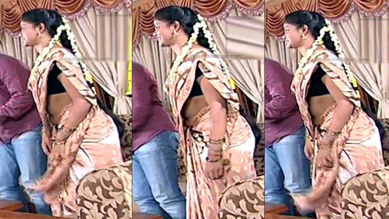 Telugu TV Actress Maa Nanna Art1-S1 9 Hot Saree Caps