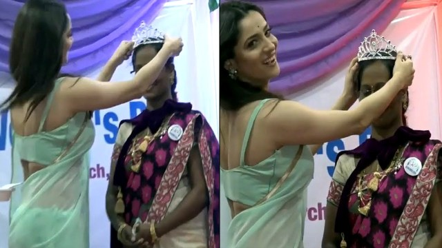 Ankita Lokhande Hindi TV actress CelebTS1 13 hot saree pics