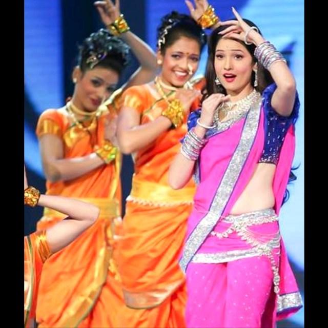 Ankita Lokhande Hindi TV actress CelebTS1 22 hot saree pics