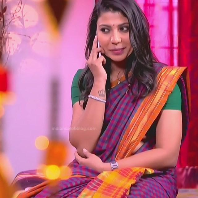 Chandana Raghavendra Kannada TV Actress Sindoora S2 18 hot saree pics