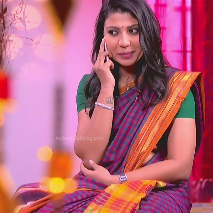 Chandana Raghavendra Kannada TV Actress Sindoora S2 18 hot saree pics