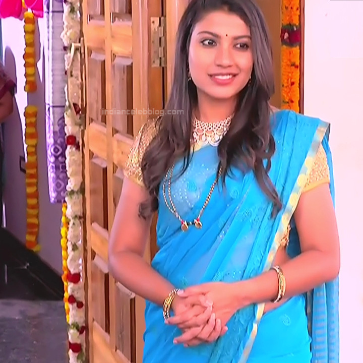 Chandana Raghavendra Kannada TV Actress Sindoora S2 20 hot saree pics