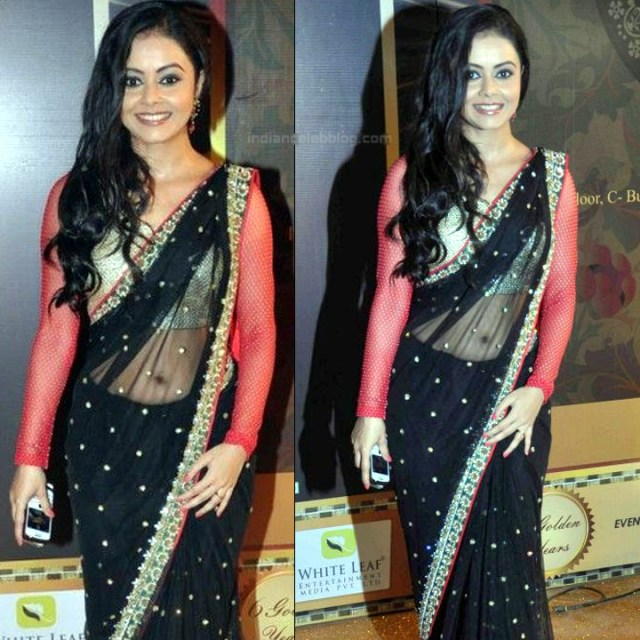 Devoleena Bhattacharjee Hindi TV actress CTS1 1 hot saree pics