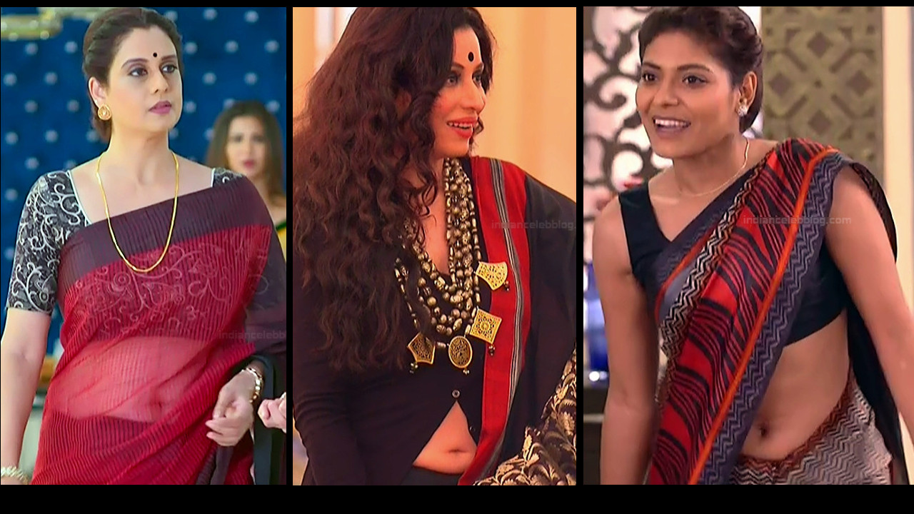 Hindi TV serial actress hot navel show HD tv caps