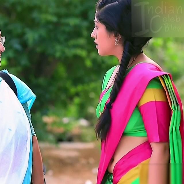 Meghana Shankarappa Kannada TV actress Kinnari S2 10 hot saree photo