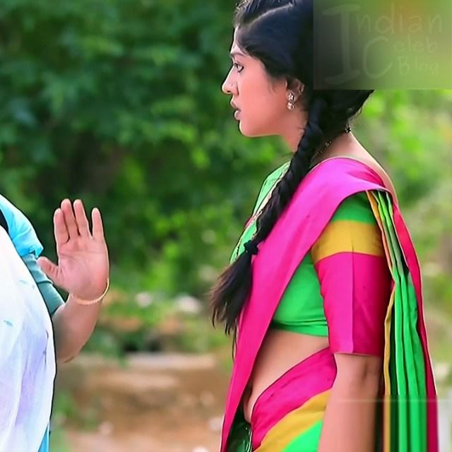 Meghana Shankarappa Kannada TV actress Kinnari S2 7 hot saree navel pic